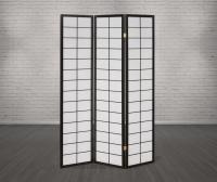 Vorschau: Paravent Japan Traditional Schwarz 3 teilig