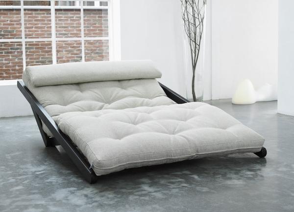 Relaxsofa Figo mit Futon 6.0 Kokos 120x200 cm