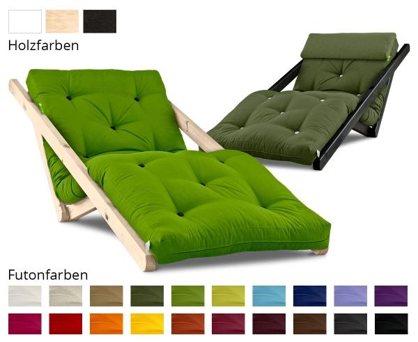 Relaxsessel Figo mit Futon 4.0 Basic 70x200 cm