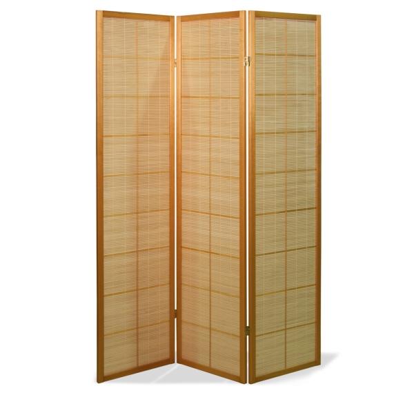 Paravent Sora Bamboo Natur 3 teilig