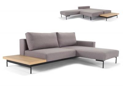 Eckschlafsofa Bragi mit Tisch 140x200 cm