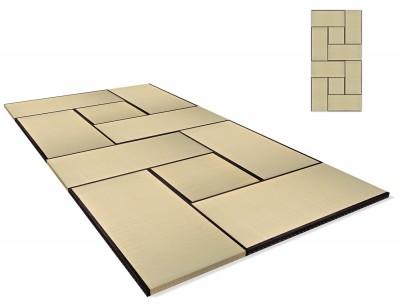 Tatami Standard Quality Set 270x540 cm, Variante 1