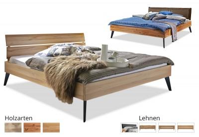 Massivholzbett Modern Sleep schräg/schmal
