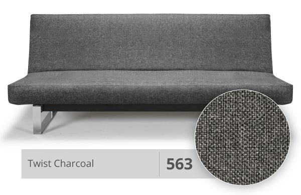 Futonbezug (Cover) Round 140x200 cm 563 Twist Charcoal