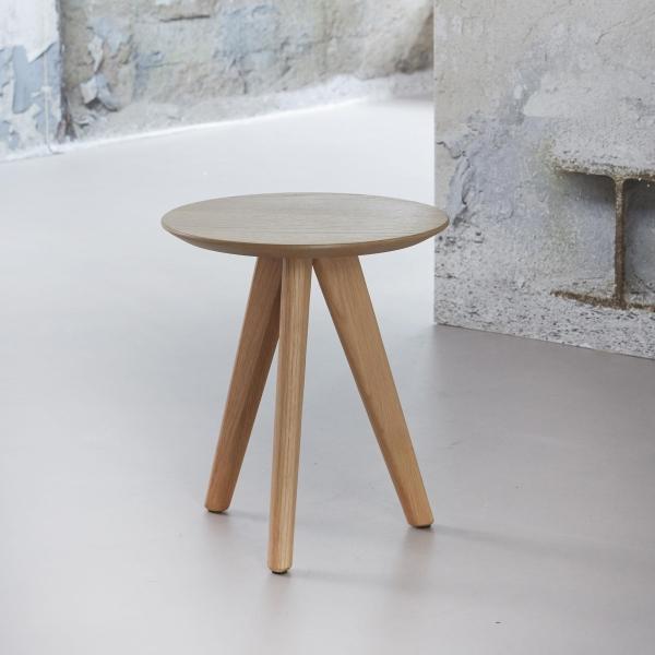 Beistelltisch Tischblatt Ø40 cm Eiche massiv