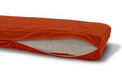 Futonbezug (Cover) 80x200 cm, Höhe 16 cm Terracotta