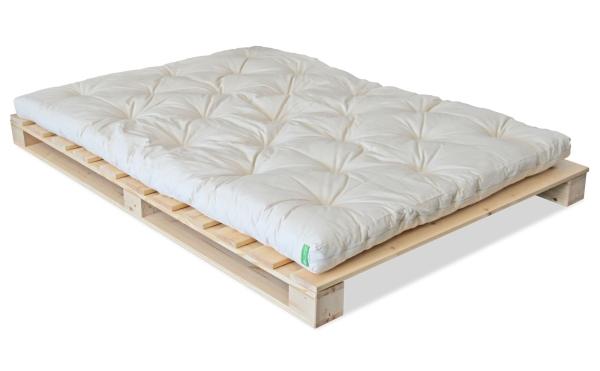 Massivholzbett Paletto 140x200 cm + Futon 4.0 Basic