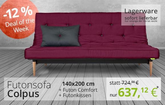 Deal of the Week - Futonsofa Colpus mit Futon Comfort und Kissen