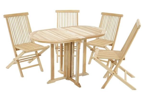 Gartenset Vancouver-Milford Tisch & 4 Stühle