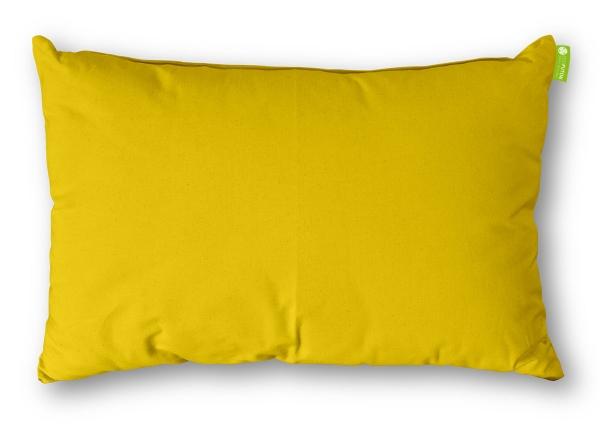 Kissen Rechteck Baumwolle 30x50 cm Gelb