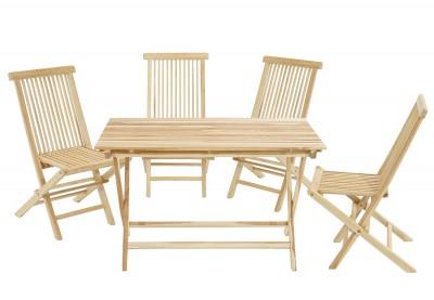 Gartenset Milford Tisch & 4 Stühle