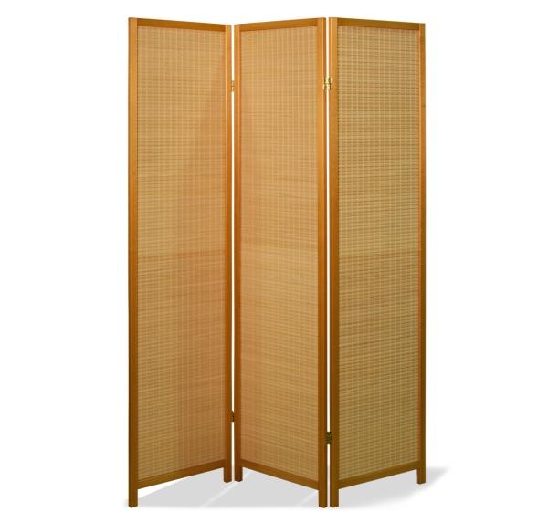 Paravent Haru Bamboo Natur 3 teilig