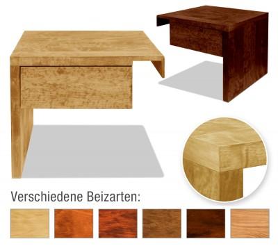 Nachttisch Basic mit Schublade (Anstelltisch, Typ 2)