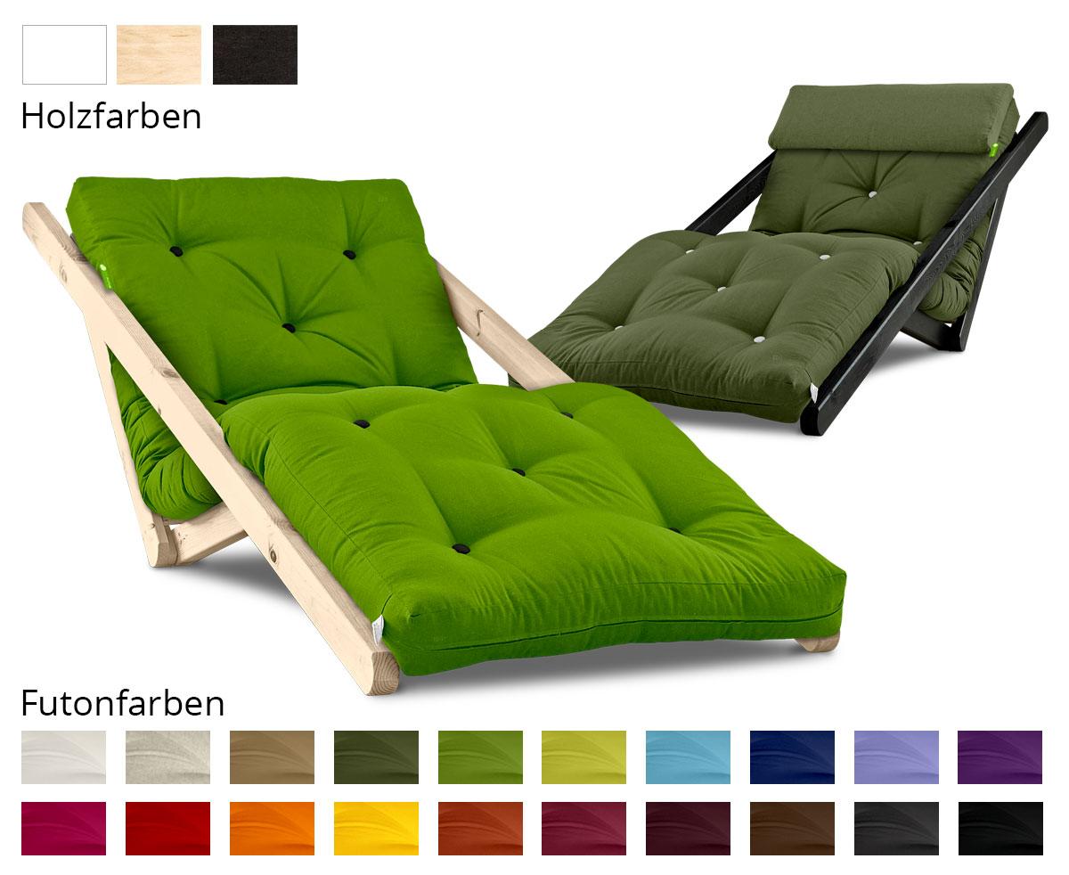 Relaxsessel figo mit futon 4 0 basic 70x200 cm for Relaxsessel sale