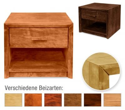 Nachttisch Kopenhagen mit Schublade und Ablage (Typ 4)