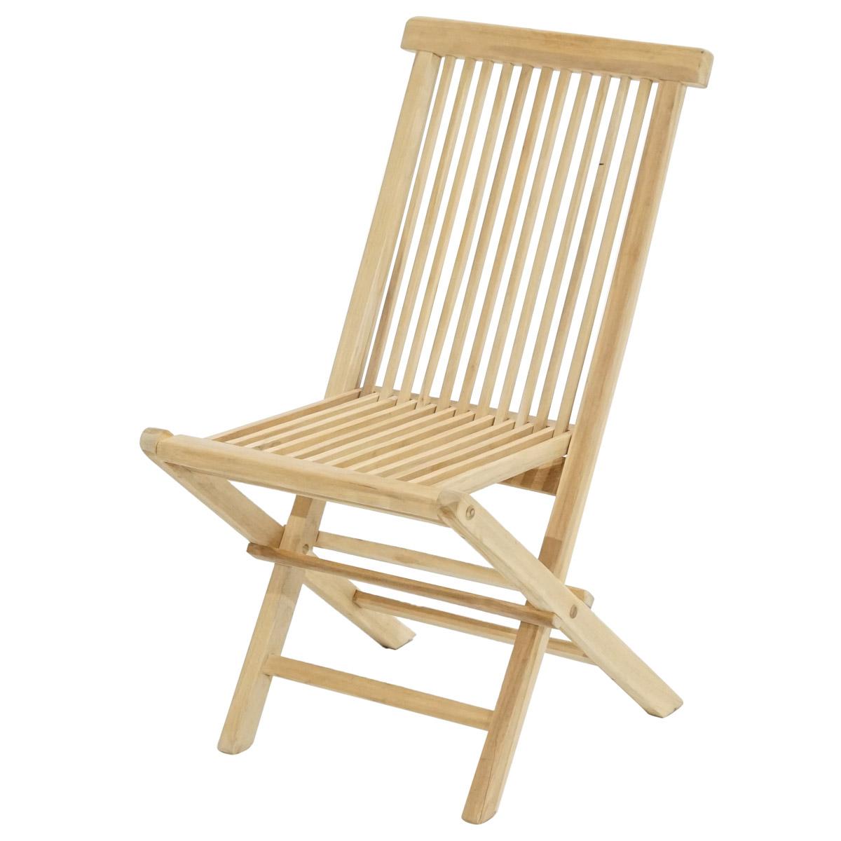 klappstuhl milford eco teak natur st hle garten balkonm bel. Black Bedroom Furniture Sets. Home Design Ideas
