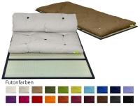 Vorschau: Gästefuton mit Klapp-Tatami, Set Basic 90x200 cm