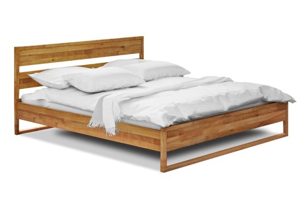 Massivholzbett Minimal 2 inkl. Lehne 160x200 cm Buche PV natur geölt
