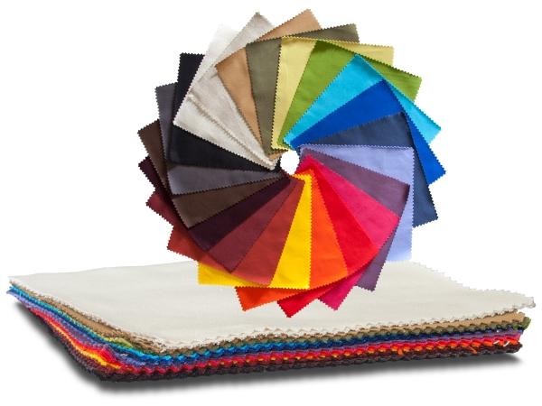 Futon Stoff- und Farbmuster