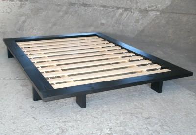 Bett Japan 140x200 cm, Kiefer schwarz (SP B/C-Ware)