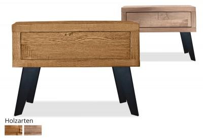 Nachttisch Timber Look schräg/schmal