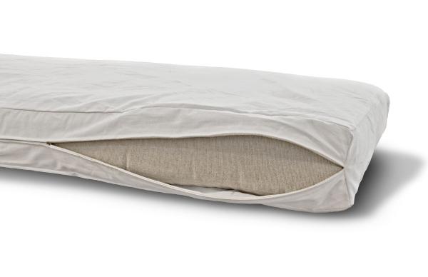 Futonbezug (Cover) 90x200 cm, Höhe 12 cm Creme