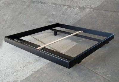Bett Milano 200x200 cm, Erle wenge (SP B/C-Ware)