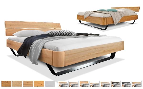 Massivholzbett Easy Sleep Kufen rund