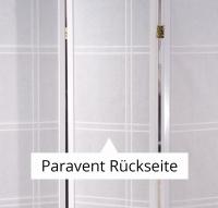 Vorschau: Paravent Doublecross Weiß 3 teilig