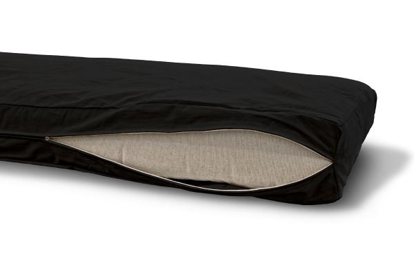 Futonbezug (Cover) 120x200 cm, Höhe 16 cm Schwarz