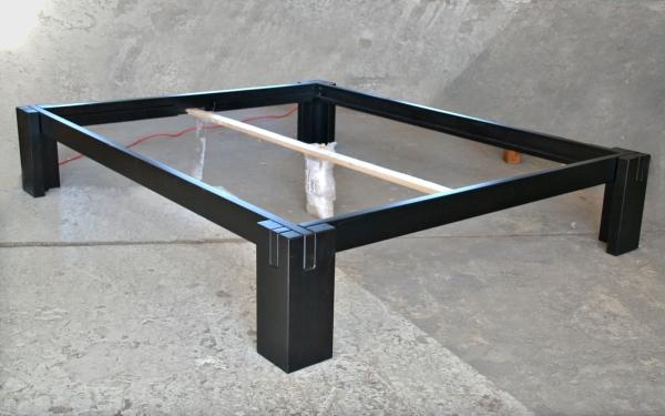 Bett Basic H40 in 160x200 cm, Erle wenge (SP B/C-Ware)