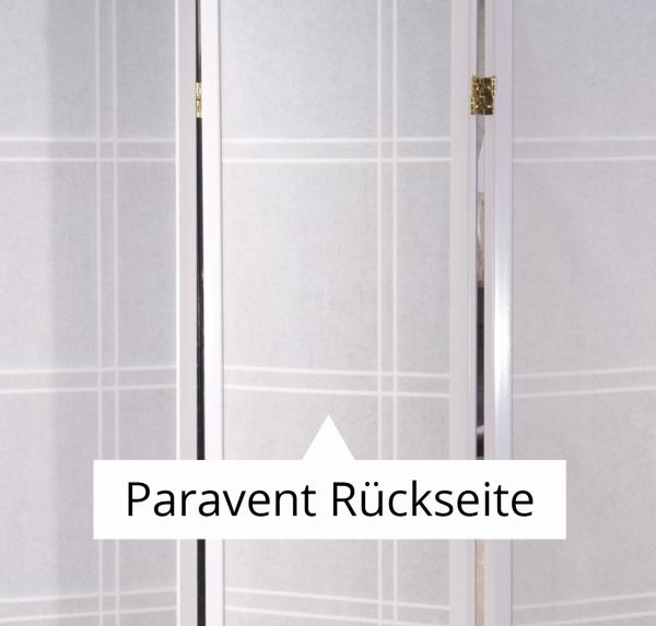 Paravent Doublecross Weiß 3 teilig