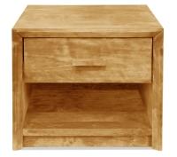 Vorschau: Nachttisch Kopenhagen mit Schublade und Ablage (Typ 4)