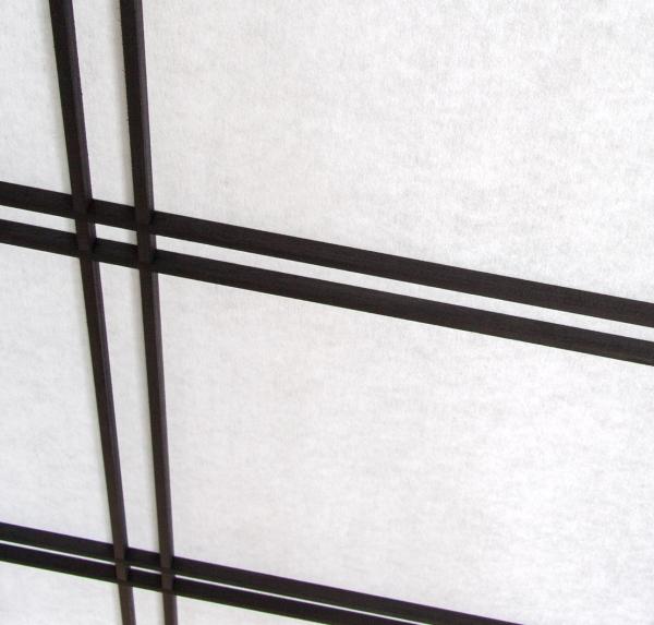 Paravent Doublecross Schwarz 4 teilig