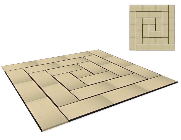 Tatami Standard Quality Set 630x630 cm