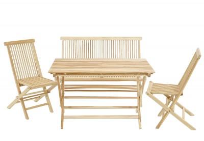 Gartenset Milford Tisch & 2 Stühle und Bank