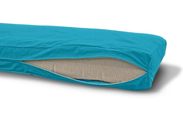 Futonbezug (Cover) 70x200 cm, Höhe 10 cm Horizontblau
