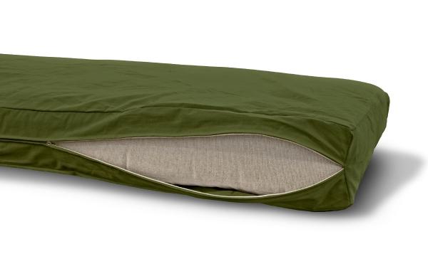 Futonbezug (Cover) 140x200 cm, Höhe 12 cm Olive