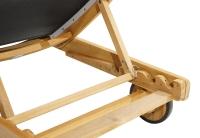 Vorschau: Rollliege Fairchild Teak mit Tablett und Rädern