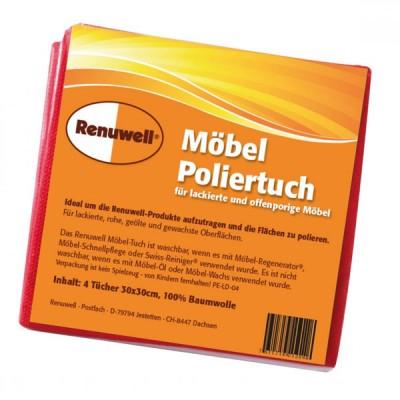 Renuwell Möbel-Poliertuch | Set bestehend aus 4 Tüchern