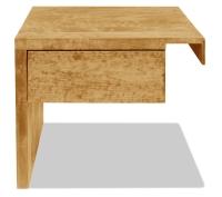 Vorschau: Nachttisch Basic mit Schublade (Anstelltisch, Typ 2)