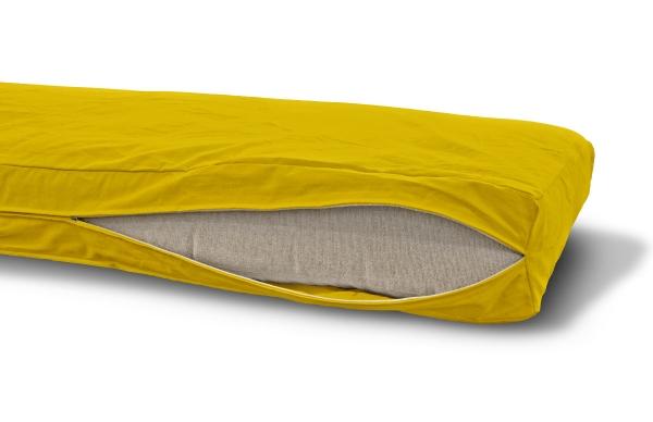 Futonbezug (Cover) 140x200 cm, Höhe 18 cm Gelb