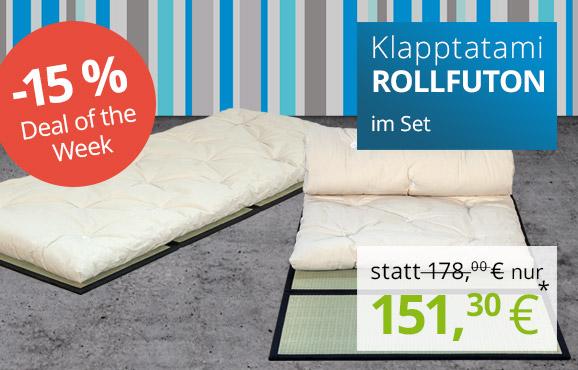 Set Klapp-Tatami + Gästefuton 90x200 cm - jetzt 15% sparen