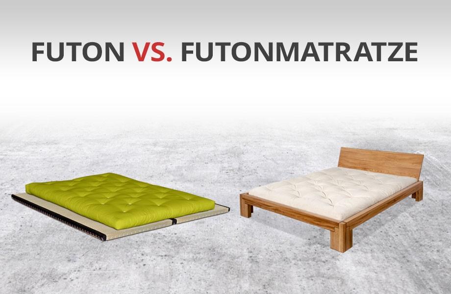traditionelle Futons oder Bett mit Futonmatratze