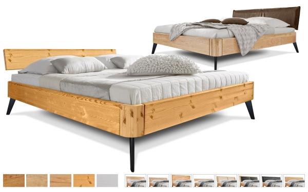 Massivholzbett Easy Sleep Schräg rund