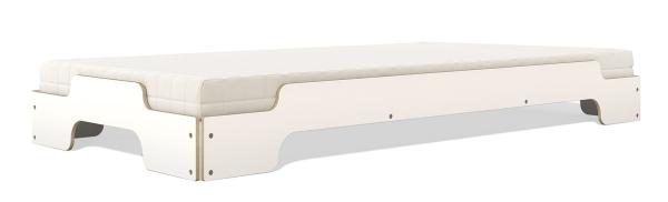 Stapelliege Klassik 90x200 cm CPL weiß