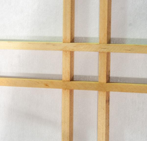 Paravent Doublecross Natur 6 teilig