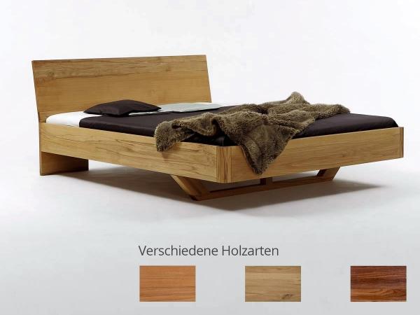 Holzbett schwebend  Bett Vita | Massivholzbetten |Betten | edofuton.de