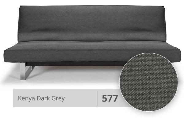 Futon und Gestellbezug Sharp 140x200 cm 577 Kenya Dark Grey