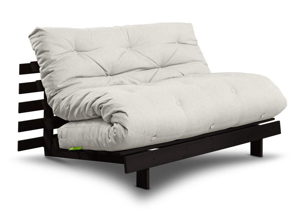 futonsofa roots mit futon comfort plus 160x200 cm futonsofas schlafsofas. Black Bedroom Furniture Sets. Home Design Ideas